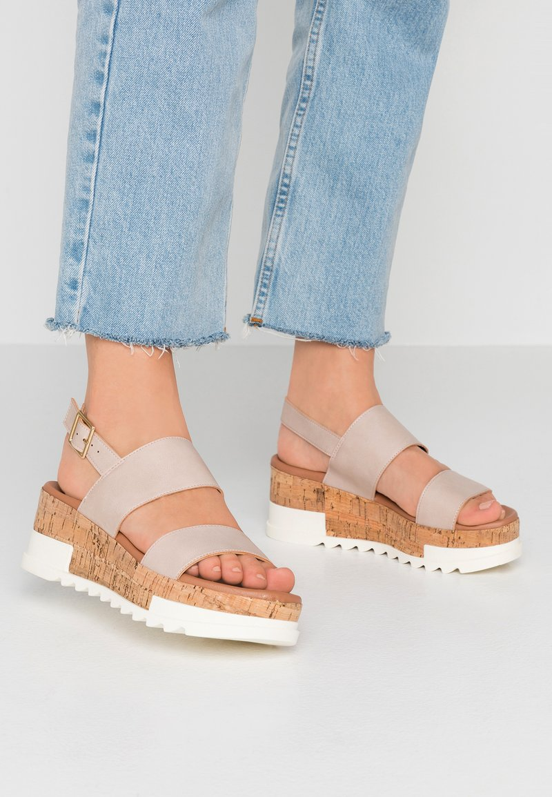 New Look - PALOMAS - Platform sandals - oatmeal