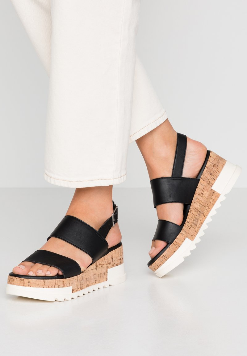 New Look - PALOMAS - Sandalias con plataforma - black
