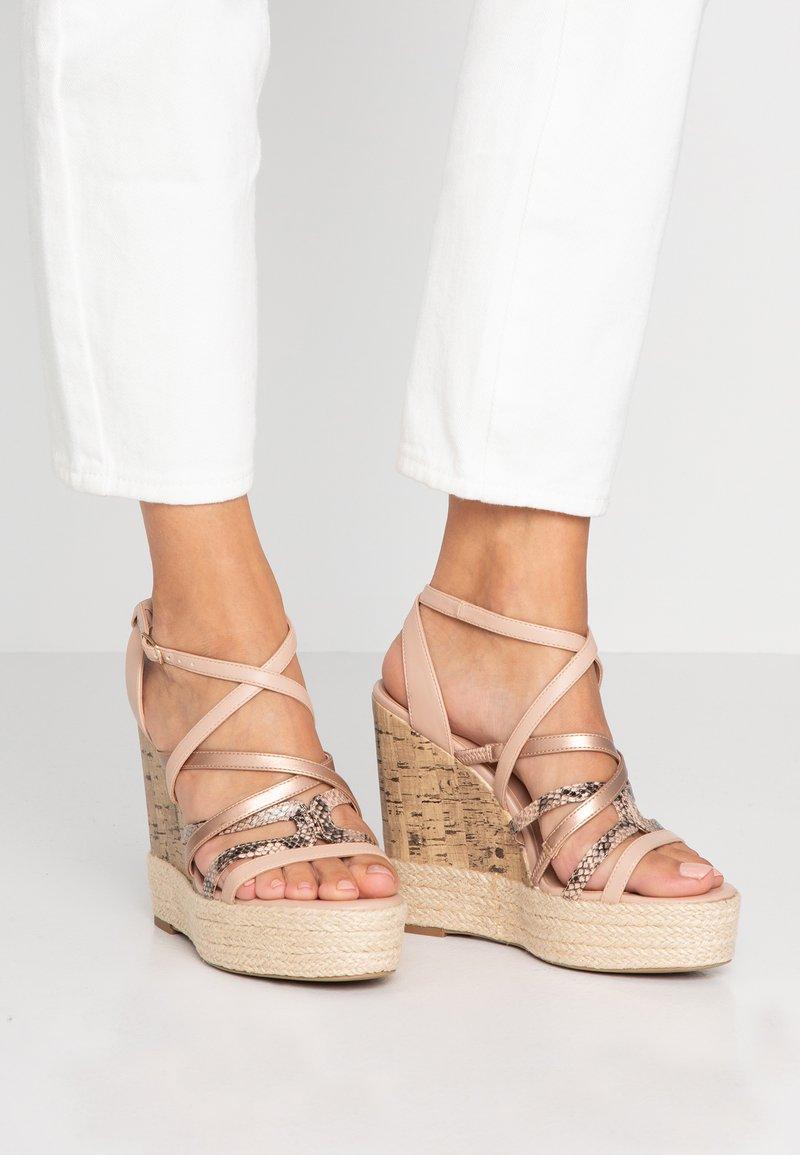 New Look - OOZY - Sandály na vysokém podpatku - oatmeal