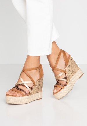 OOZY - Sandály na vysokém podpatku - brown