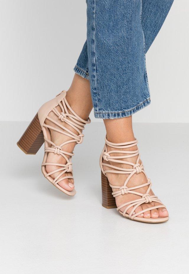 POTTING - Sandalen met hoge hak - oatmeal