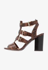 New Look - PENG - Sandály na vysokém podpatku - brown - 1