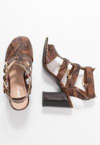 New Look - PENG - Sandály na vysokém podpatku - brown - 3