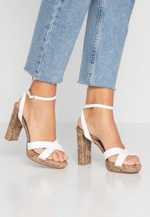 PORKS - Sandály na vysokém podpatku - white
