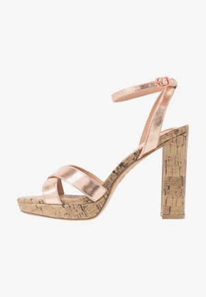PORKS - High heeled sandals - rose gold