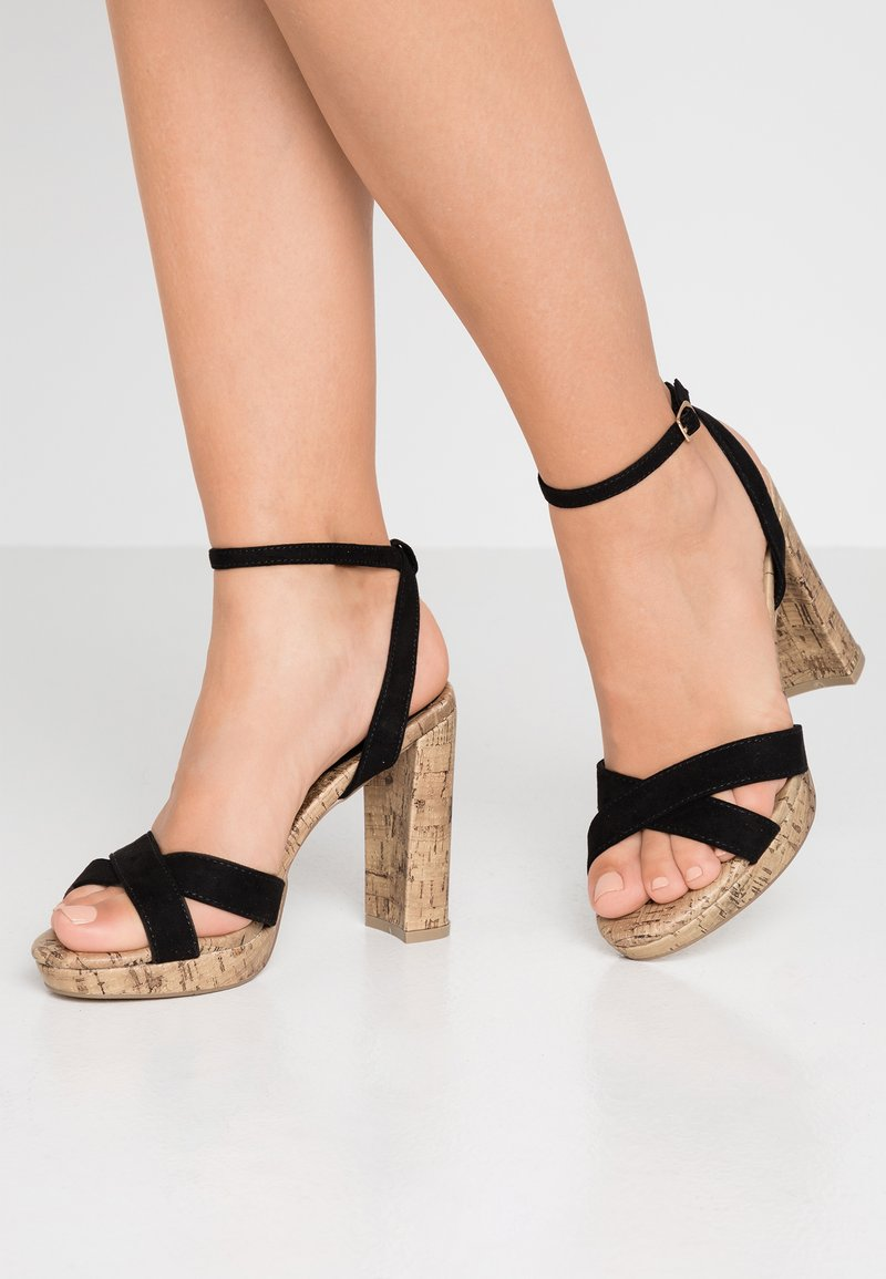 New Look - PORKS - Sandali con tacco - black