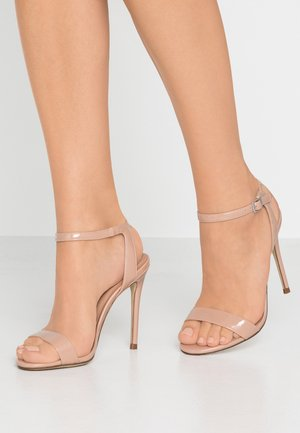 High heeled sandals - oatmeal