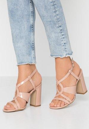SWIRLEY - Sandály na vysokém podpatku - oatmeal