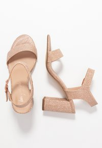 New Look - VIMS - Sandales à talons hauts - rose gold - 3
