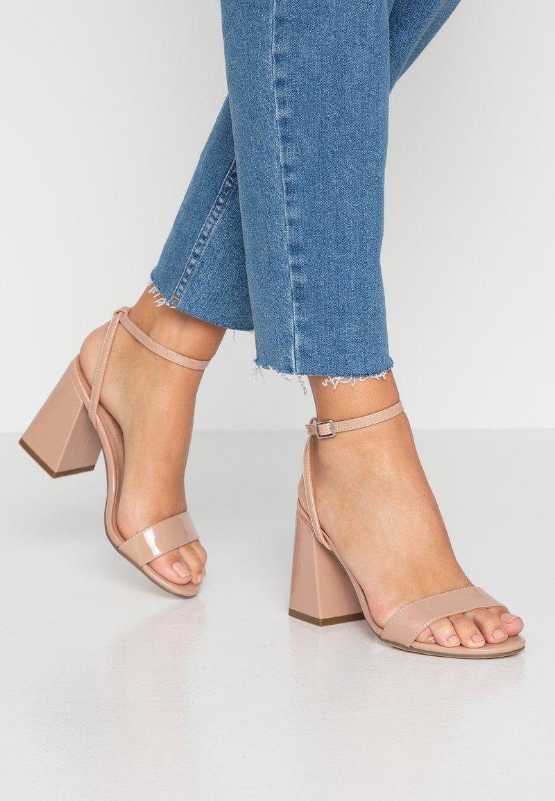 New Look - SPOINT - Sandály na vysokém podpatku - oatmeal