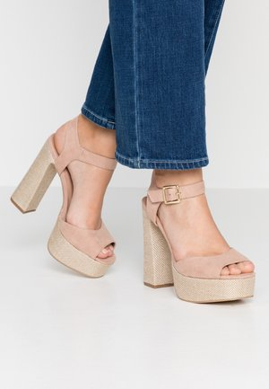 PANTHA - High heeled sandals - oatmeal