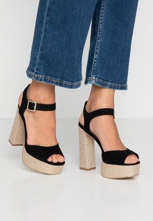 PANTHA - High heeled sandals - black