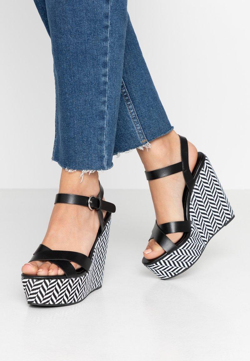New Look - PAVE - Højhælede sandaletter / Højhælede sandaler - black