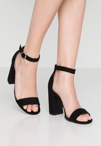 New Look - SWAGGLE  - High heeled sandals - black - 0
