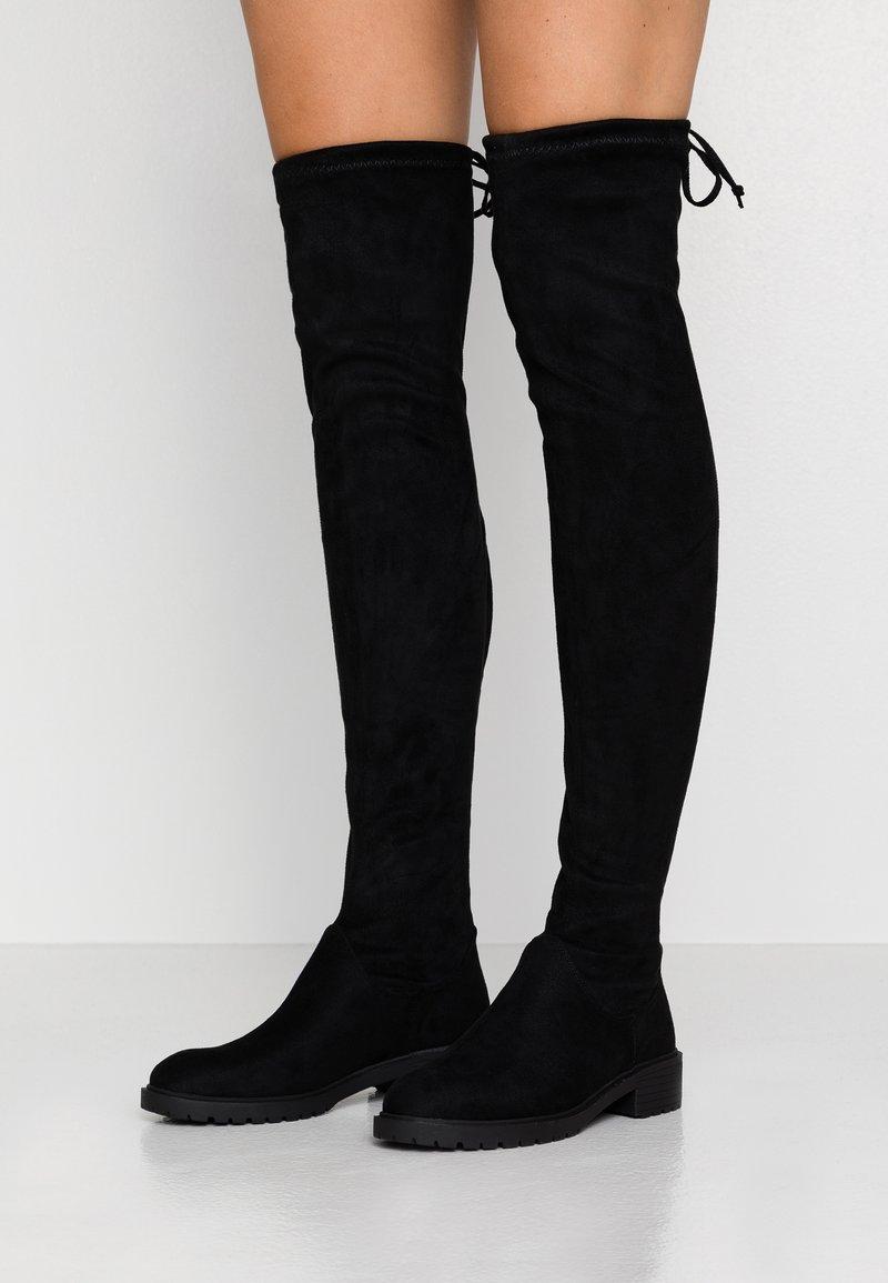 New Look - BOMBAY  - Overknees - black