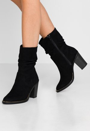 BRELLA - High heeled ankle boots - black