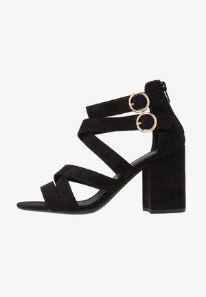 WONSEN - Sandály na vysokém podpatku - black