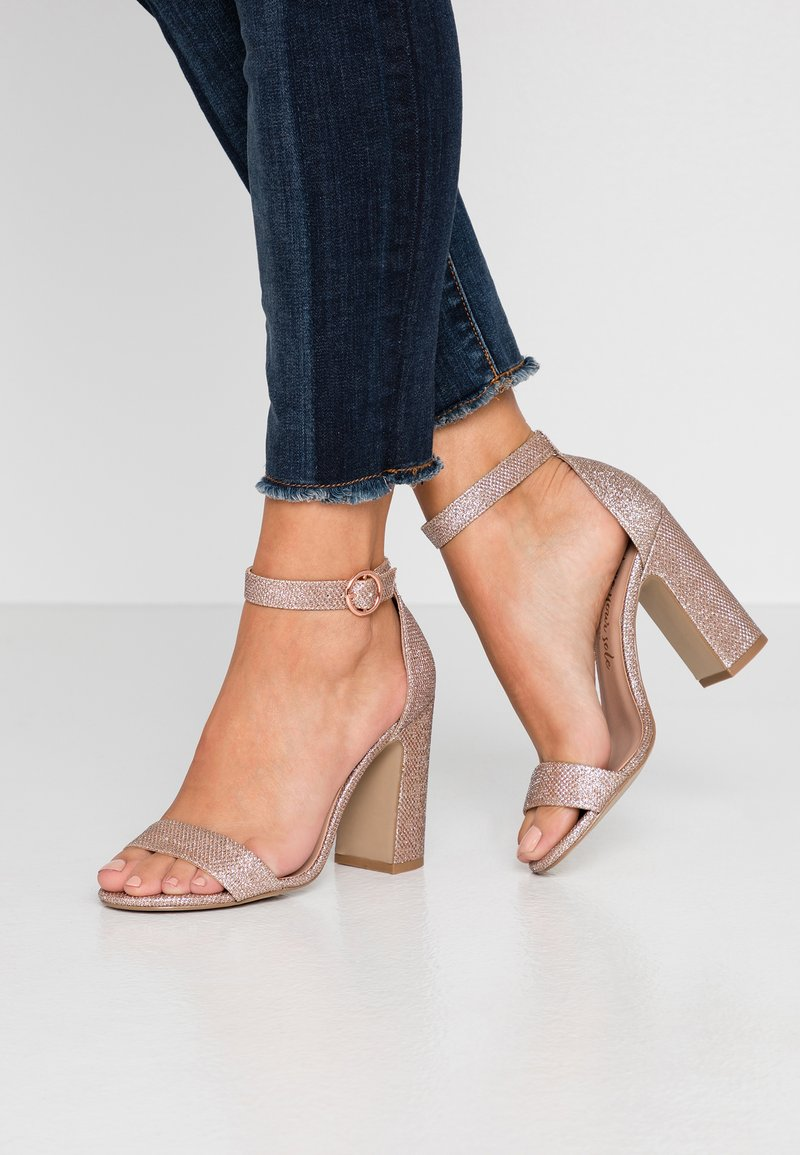 New Look - SWAGGLE - Sandalias de tacón - rose gold