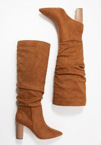 New Look - DEXTER - High heeled boots - tan - 3