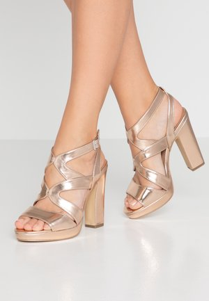 SPICY - Sandalen met hoge hak - rose-gold