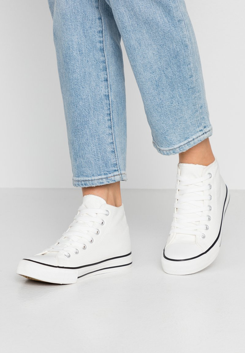 New Look - MARKINO  - Korkeavartiset tennarit - white