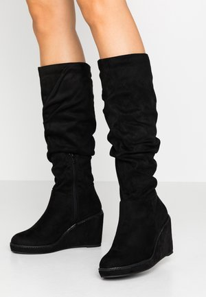 DIME - Wedge boots - black