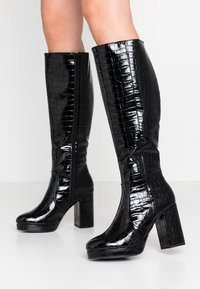 New Look - CROWN - High Heel Stiefel - black - 0