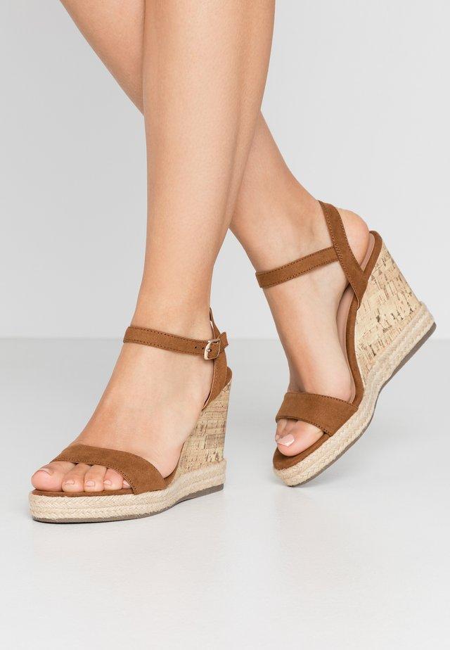 PERTH - Højhælede sandaletter / Højhælede sandaler - tan