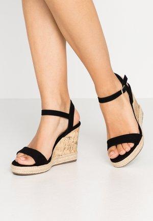 PERTH - High heeled sandals - black