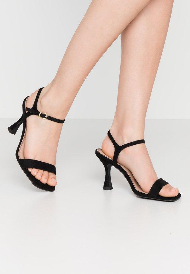 VARINA - Sandaler med høye hæler - black