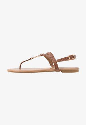 HOOPER - T-bar sandals - tan
