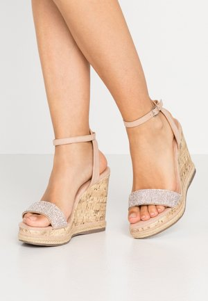 PACIFIC - High heeled sandals - oatmeal
