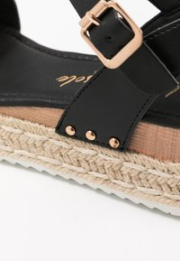 New Look - POMPER - Espadrilky - black - 2