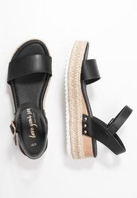 New Look - POMPER - Espadrilky - black - 3