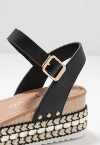 New Look - PARRAMELLA - Sandály na platformě - black - 2