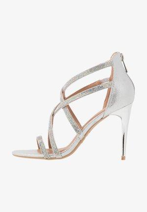 UDELLA - High heeled sandals - silver