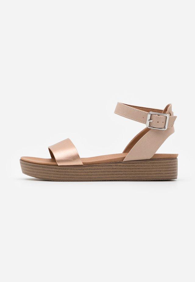 GENIUS - Platform sandals - rose gold