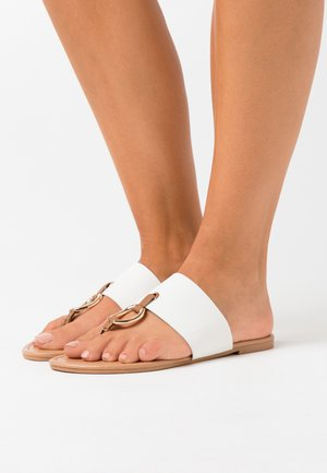 FANCY - T-bar sandals - white