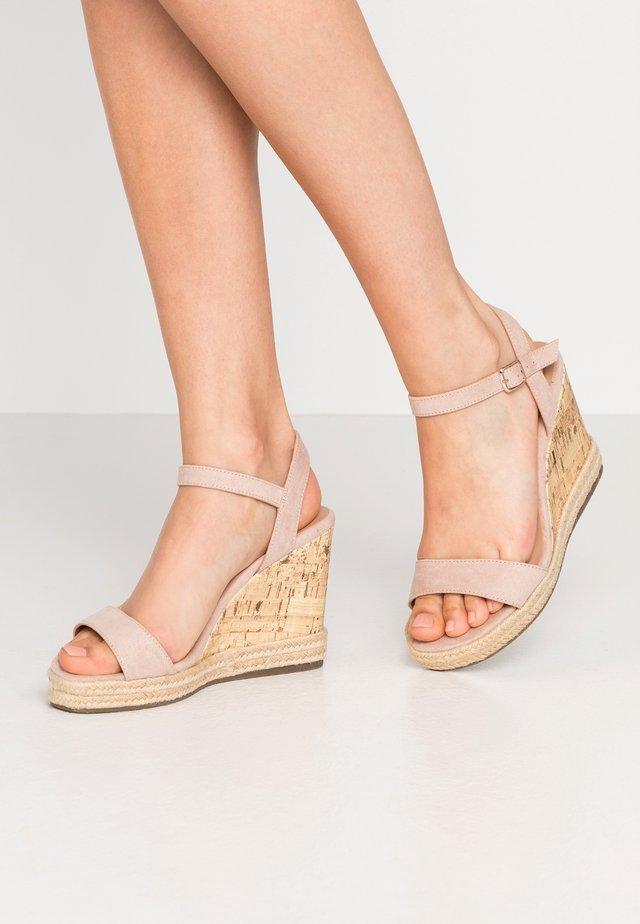 PERTH - Sandalen met hoge hak - oatmeal