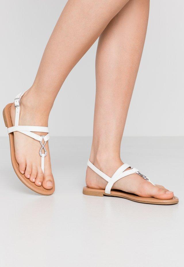 HOOPER - Sandalias de dedo - white