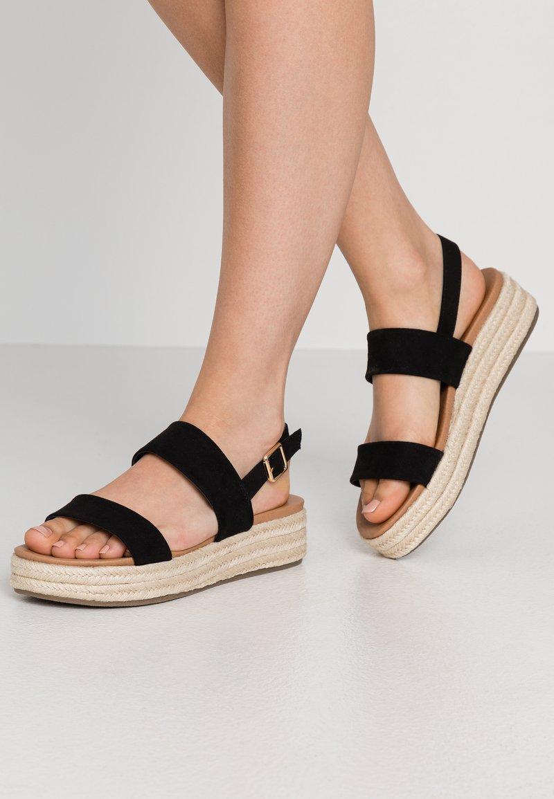 New Look - CUTE - Espadrilles - black