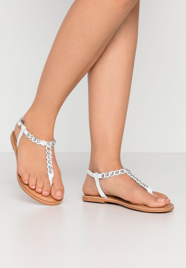 FELICITY - T-bar sandals - white