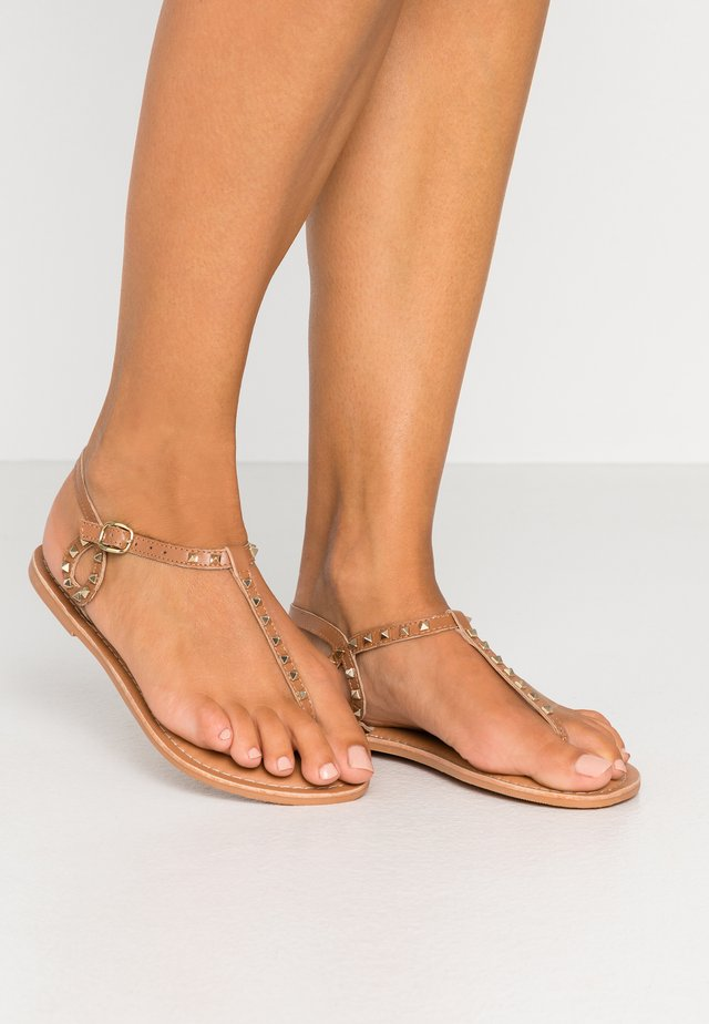 GALLY - Sandalias de dedo - tan
