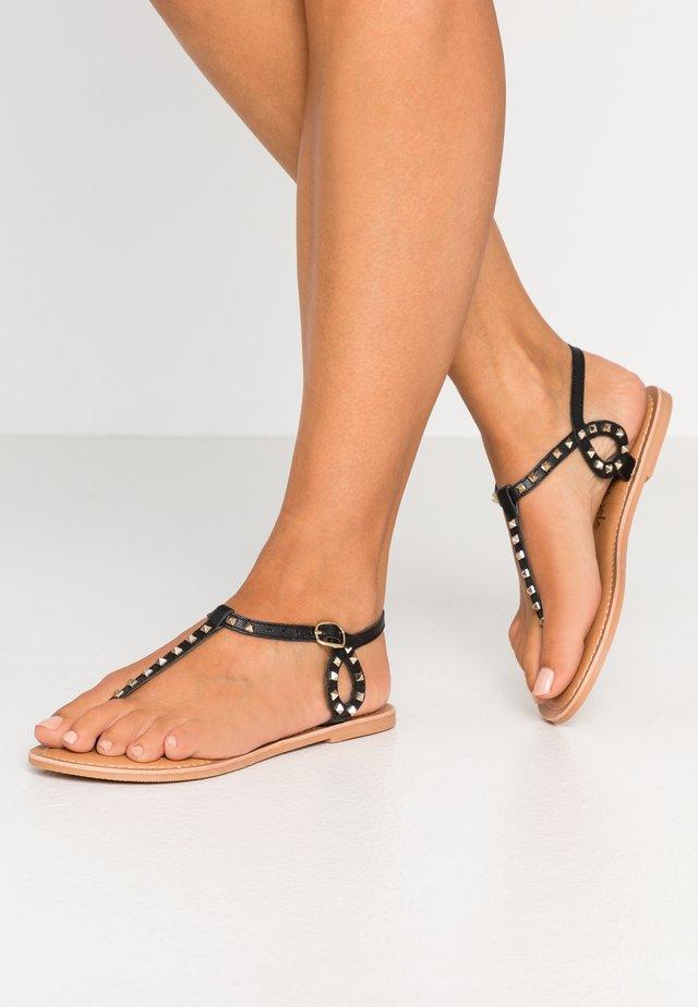 GALLY - T-bar sandals - black