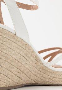 New Look - PEDGER - Sandalen met hoge hak - white - 2
