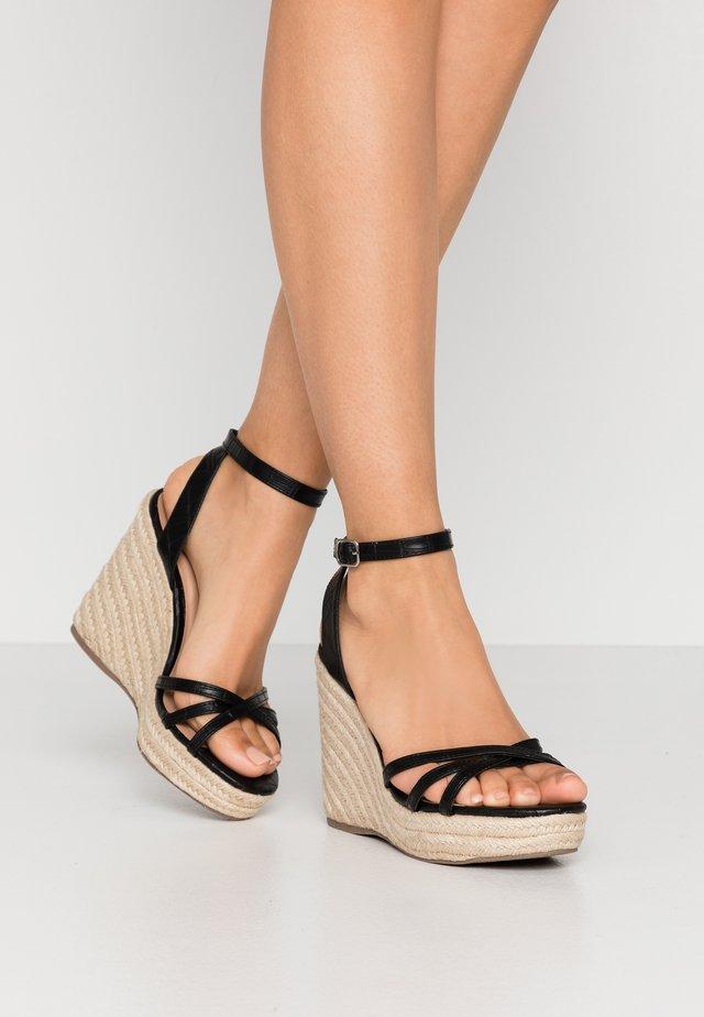 PEDGER - Sandalen met hoge hak - black