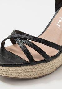 New Look - PEDGER - Korolliset sandaalit - black - 2