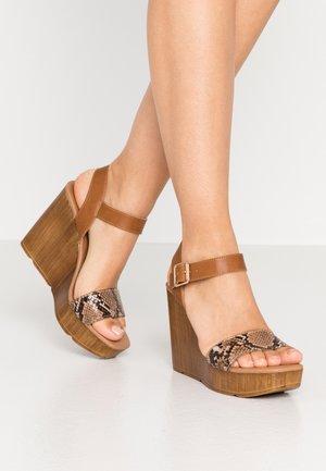 PRANG - High heeled sandals - stone