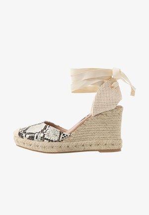TRINIDAD - High heeled sandals - stone niu