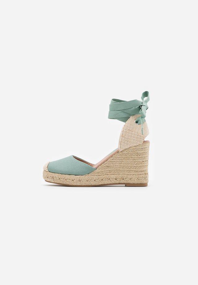 TRINIDAD  - High heeled sandals - mint green